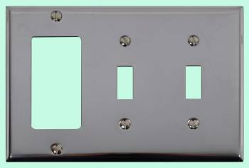 <PRE>Switchplate Chrome Double Toggle GFI </PRE>zoom2