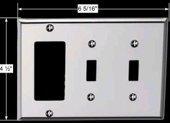 spec-<PRE>Switchplate Chrome Double Toggle GFI </PRE>
