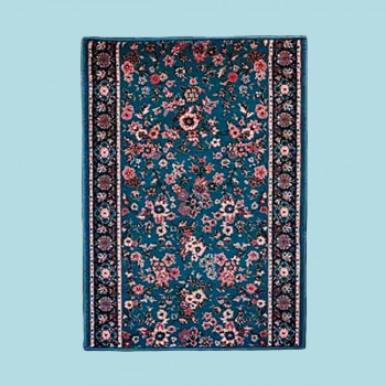 <PRE>Runner Area Rug 26'' Wide, Sold by Foot Blue Wool </PRE>zoom2