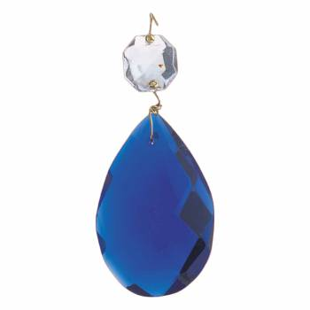 <PRE>Prisms Blue Glass Pendalogue 2inchH </PRE>zoom2