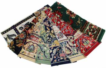 Carpet Runner Multi Colored 7 Sample Swatches 19906grid