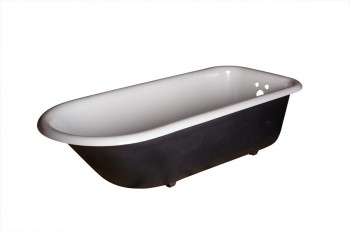 Primed Black Cast Iron Clawfoot Tub FEET NOT INCLUDED