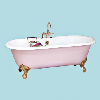 Clawfoot White Cast Iron Dual, Deckmounted Cast Iron Clawfoot Tub Clawfoot Tubs For Bathroom Vintage Clawfoot Tub