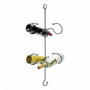 Wine Racks Black Wrought Iron Hanging Rack 28