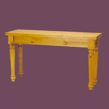 spec-<PRE>Sofa Tables Narrow Heirloom Pine Wentworth 28&quot;H x 52&quot;W</PRE>