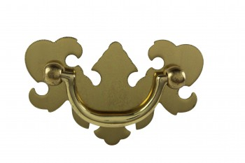Bright Solid Brass Chippendale Bail Pull 19948grid