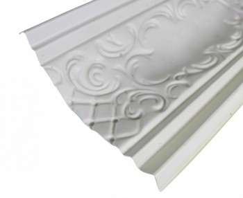 Ornate Cornice White Urethane  47 14 L  Brook Ornate Cornice Molding Decorative White Crown Molding Classy Crown Molding