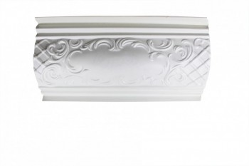 <PRE>Ornate Cornice White Urethane  47 1/4inch L  Brook </PRE>zoom1