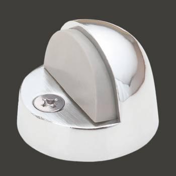 <PRE>Brass Door Stop High Dome Floor Mount Bumper Chrome </PRE>