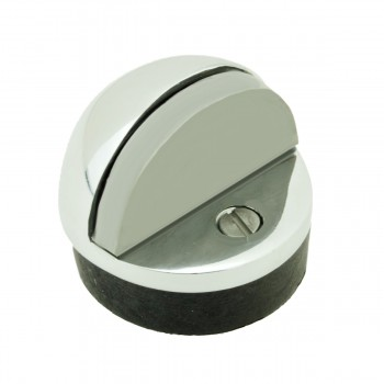 Brass Door Stop Dome Floor Mount Bumper Chrome