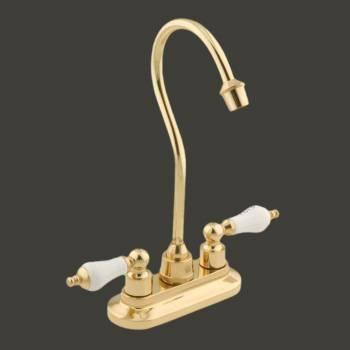 Gooseneck Bar Faucet Heavy Cast Brass Centerset 2 Handles bathroom fixture bathroom faucet water faucet