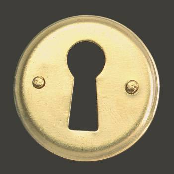 spec-<PRE>Escutcheon Solid Brass Keyhole Cover 1&quot;D </PRE>