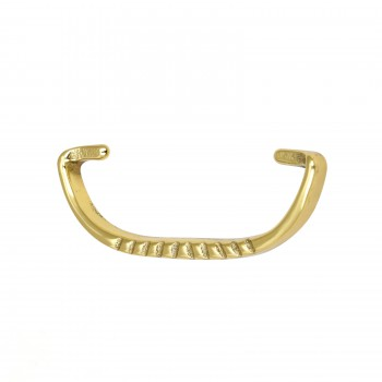 <PRE>Solid Brass Bail Pull Victorian Ribbed </PRE>zoom1