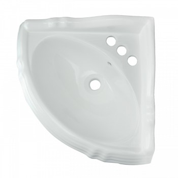 Renovators Supply White Corner Bathroom Pedestal Sink Sheffield Centerset Holes Corner Pedestal Bathroom Sink modern pedestal sink white pedestal sink