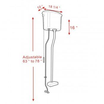 spec-<PRE>High Tank Pull Chain Toilet White Conversion Kit Z-pipe </PRE>