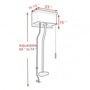 spec-<PRE>High Tank Pull Chain Toilet Cherry Conversion Kit Z-pipe </PRE>