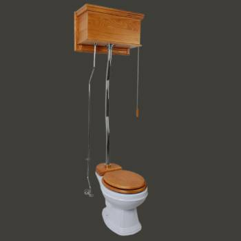 Toilets - Light Oak Finish 