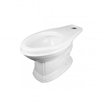 Dark Oak High Tank ZPipe Toilet Elongated White Bowl High Tank Pull Chain Toilets High Tank Toilet with Elongated Bowl Old Fashioned Toilet