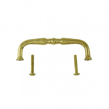<PRE>Cabinet  Bail Pull Bright Solid Brass Spooled 3 1/2inch </PRE>zoom3