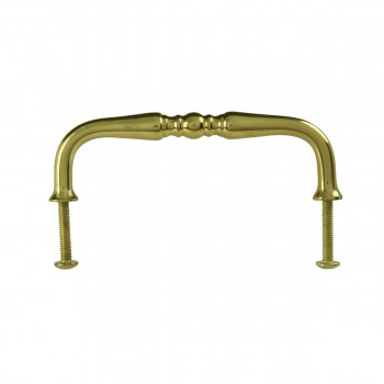 <PRE>Cabinet  Bail Pull Bright Solid Brass Spooled 3 1/2inch </PRE>zoom4