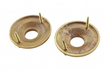 <PRE>Pair 2inch Colonial Rosettes Bright Solid Brass Passage Knob </PRE>zoom4