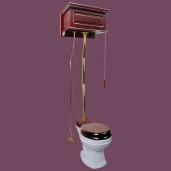 Toilets - Cherry Finish 