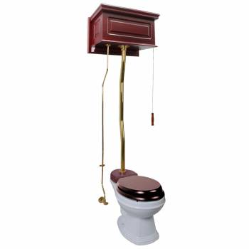 Cherry High Tank Z-Pipe Toilet Elongated White Bowl  20169grid