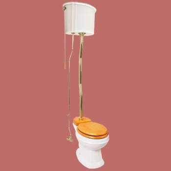 <PRE>Biscuit Ceramic High Tank Toilet Gloss Round Bowl Rust Resistant Brass Z-Pipe</PRE>zoom2