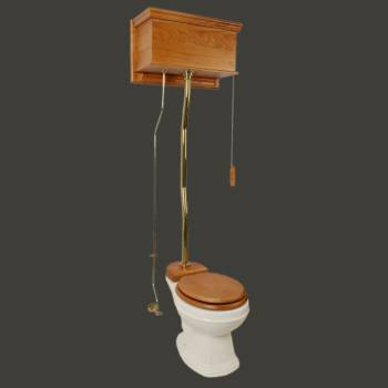 <PRE>High Tank Toilet Biscuit Round Lt Oak Brass PVD </PRE>zoom2