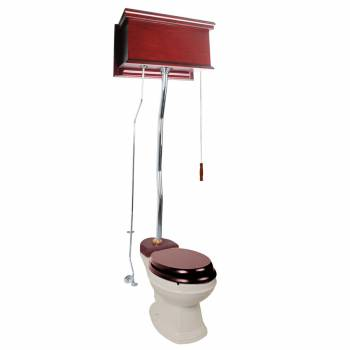 Cherry High Tank Z-Pipe Toilet Elongated Biscuit Bowl 20200grid
