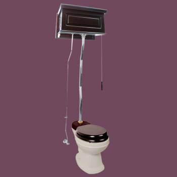 <PRE>Dark Oak High Tank Pull Chain Toilet Raised Round Toilet Bowl And Z-Pipe</PRE>zoom2
