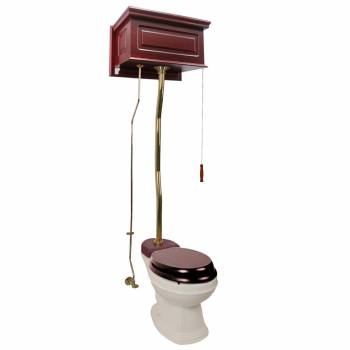 Cherry High Tank Z-Pipe Toilet Elongated Biscuit Bowl  20213grid