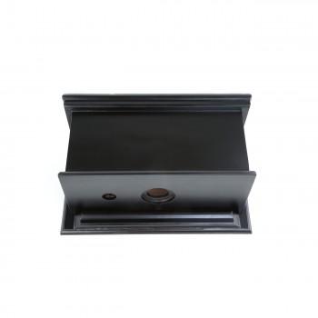 <PRE>Dark Oak High Tank Z-Pipe Toilet Round Black Bowl </PRE>zoom7