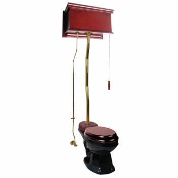 <PRE>Cherry High Tank Z-Pipe Toilet Elongated Black Bowl </PRE>zoom1