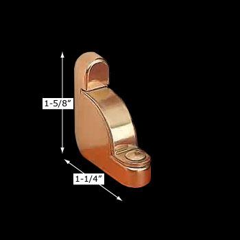 spec-<PRE>Carpet Rod Bracket Solid Brass Holder Left Side </PRE>