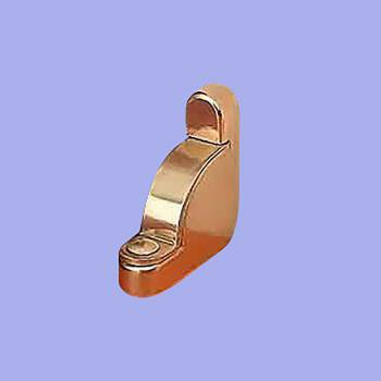 Carpet Rod Bracket Bright Brass Holder Right Side Brass Carpet Rod Brackets Stair Rod Brackets Stair Runner Brackets