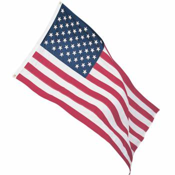 Cotton American Flag Full Size Indoor Patriotic 3' x 5' 20310grid