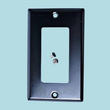 <PRE>Switchplate Black Steel Duplex/GFI Classic </PRE>