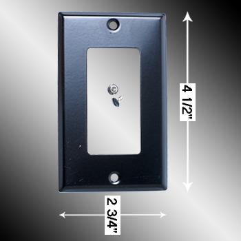 spec-<PRE>Switchplate Black Steel Duplex/GFI Classic </PRE>