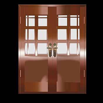 Security Door Copper Steel Security Door Copper over Steel20326grid