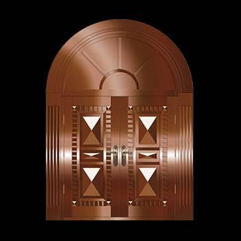 Security Door Copper Steel Security Door Copper over Steel20328grid