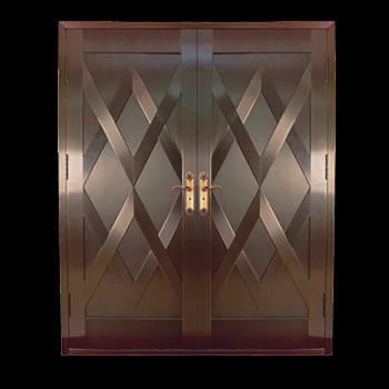 Security Door Copper Steel Security Door Copper over Steel20332grid