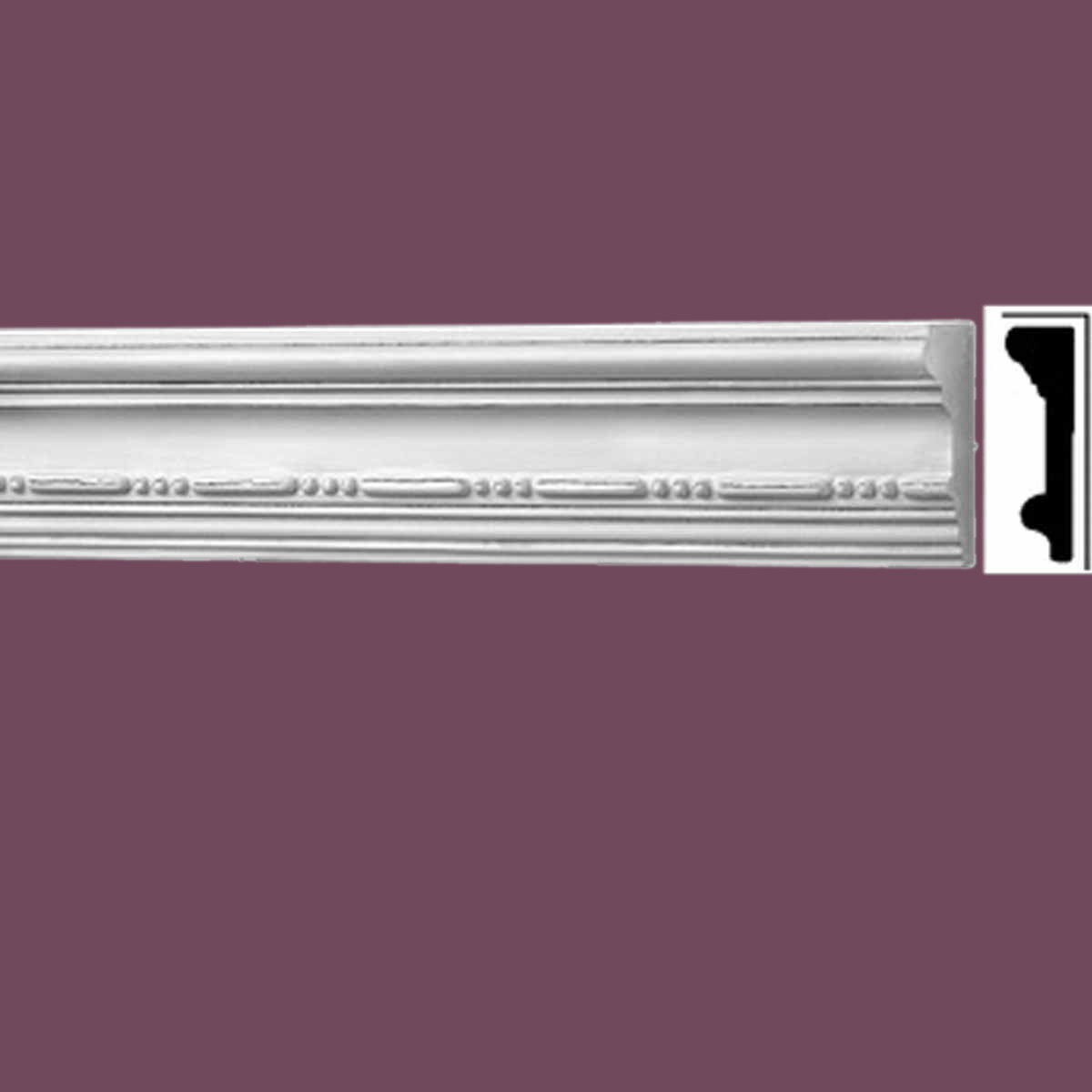 Cornice White Urethane Sample of 20403 19.75 Long Cornice Cornice Moulding Cornice Molding