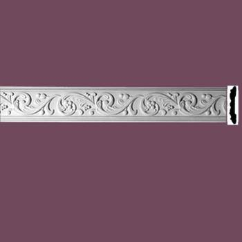 <PRE>Crown Molding White Urethane Catherine Wheel Ornate </PRE>zoom2