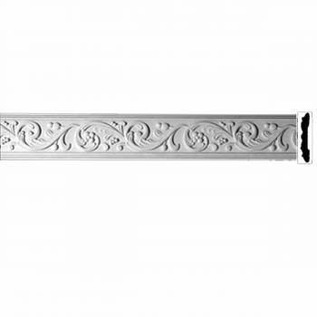 Crown Molding White Urethane Catherine Wheel Ornate 20405grid