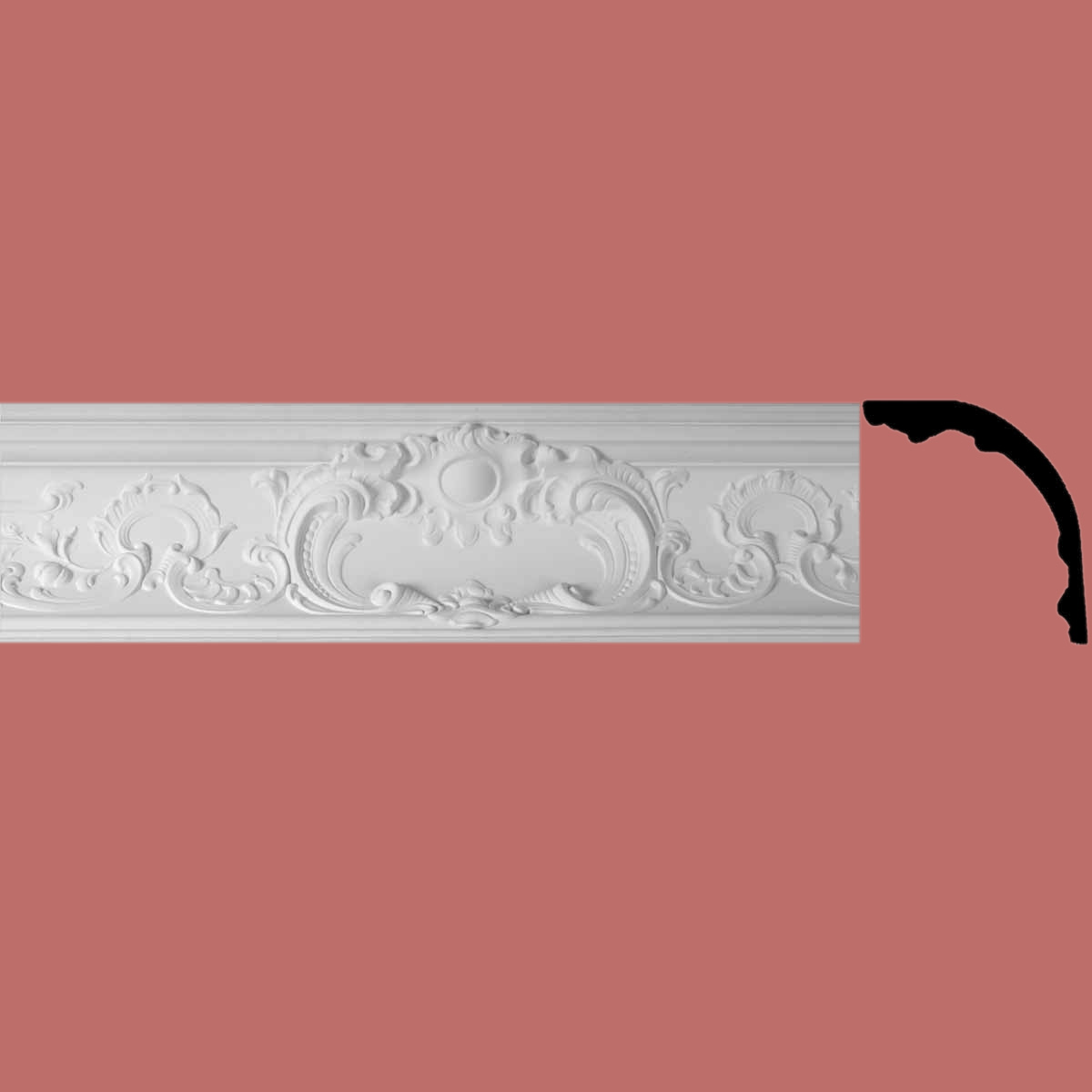 Cornice White Urethane Sample of 20408 19.5 Long Cornice Cornice Moulding Cornice Molding