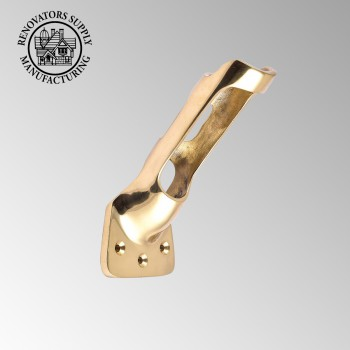 <PRE>Heavy Duty Cast Brass Flag Pole Bracket Holder Fin </PRE>zoom2