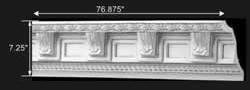 """spec-<PRE>Cornice White Urethane  76 7/8"""" L  Greco-Roman Ornate </PRE>"""
