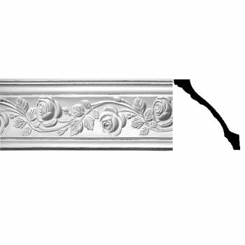 "Cornice Withe Urethane 5 3/8"" H Bridge Of Flowers Ornate20420grid"