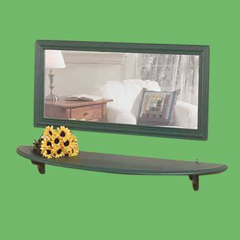 "spec-<PRE>Mirror Shelf Bayberry Green Pine 43 3/4"" </PRE>"